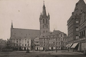 Germany Trier Treves Gangolfskirche Old Photo Cabinet card 1890