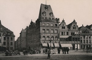 Germany Trier Treves Hotel Rothes Haus Old Photo Cabinet card 1890