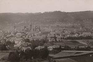 Germany Trier Treves Panorama from Petersberg Old Photo Cabinet card 1890