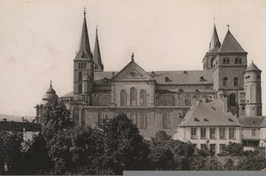 Germany Trier Treves Cathedral Dom Old Photo Cabinet card 1890
