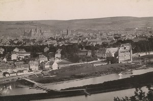 Allemagne Trier Trèves Panorama Ancienne Photo Carte Cabinet 1890