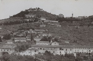 Italy Firenze Florence Fiesole Old Photo Cabinet card 1890