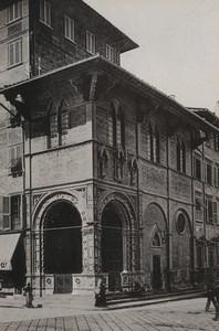 Italy Firenze Florence Loggia del Bigallo Old Photo Cabinet card 1890