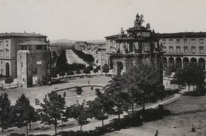 Italy Firenze Florence Piazza Cavour Square Old Photo Cabinet card 1890