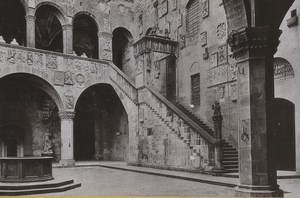 Italy Firenze Florence Bargello Courtyard Old Photo Cabinet card 1890