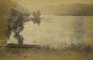 France Gerardmer Lac de Longemer Lake Old Photo Cabinet card Neurdein 1890