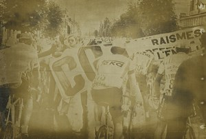 Photo stage 6 of the Tour de France 1980 Lille Communist activists Cycling