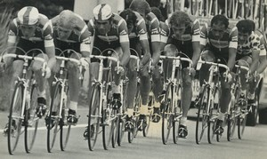 Photo stage 11 Tour de France 1981 Douai La Redoute Motobecane team Cycling