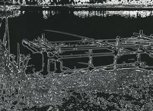 France Fantaisie Photographique Etude Lac Peniche? Ancienne Photo Deplechin 1970 #1