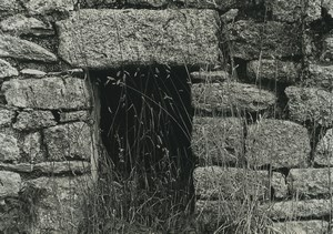 France Photographic Study Stone Ruins Close up Old Deplechin Photo 1970