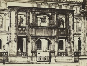 France Paris Imperial School Fine Arts Arch Castle Gaillon Old Photo Bisson 1858