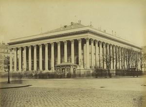 France Paris Stock Market La Bourse Architecture Old Quinet Photo 1865