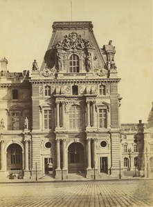 France Paris Louvre Palace Pavillon Turgot Architecture Old Baldus Photo 1855
