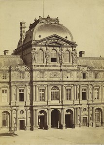 France Paris Louvre Palace Pavillon Sully Architecture Old Baldus Photo 1855