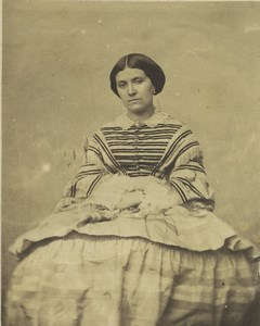 France Paris Mme Theresine (Henri) Grevedon Old CDV Photo Walter 1850