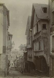 France Dinan rue de Jerzual street shops Old Photo 1900
