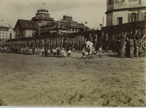 France Brittany Saint Malo beach Children Drummers Old Photo 1900