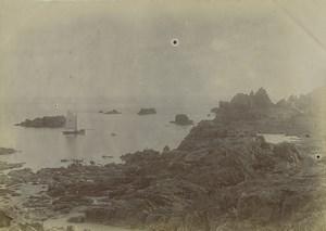 Iles Anglo Normandes Jersey la pointe de Corbière Ancienne Photo 1900