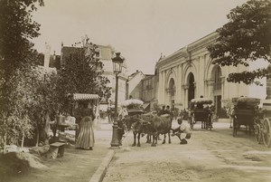 France Alps Aix les Bains Place des Bains Busy street scene Old Photo 1900