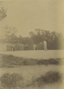 Italy Sanremo Cricket Ground Game Sports Old Photo 1890