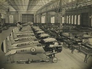 United Kingdom Bristol Bulldog military aircraft factory Aviation Old Photo 1930