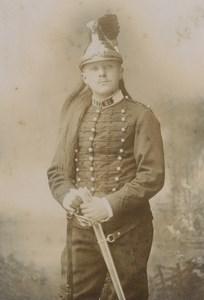 France Saint Omer military portrait Dragon? Old Cabinet Photo Becquereau 1890