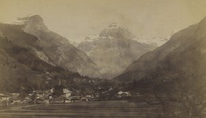 France Alps Sixt & Tenneverge Pike Old Cabinet Photo Pittier 1890's