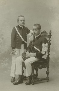 France Rennes Boys in Uniform Portrait Old Cabinet Photo Ordinaire 1900