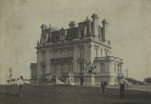 France Chateau demeure prés d' Amiens? Ancienne Photo Cabinet Caron 1890's