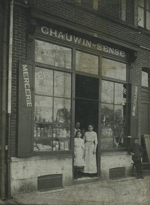 France Lille Haberdashery Hardware Store Chauwin Sense WWI Old Photo 1910