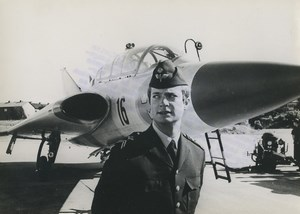Prince Pilot Karl Gustav of Sweden Swedish Royal Air Force Old Photo 1967