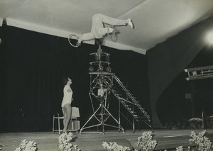France Music Hall Acrobats Old Photo 1960's
