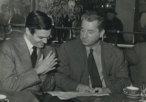 Belgium actors Claude Dauphin & Louis Jourdan Old Photo 1960's
