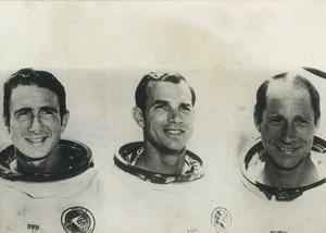 NASA Apollo 15 James Irwin David Scott & Alfred Worden  Old Photo 1971