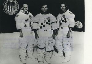 USA NASA Apollo XVI Ken Mattingly, John Young & Charles Duke Old Photo 1972