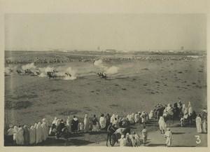 Morocco Marrakech Military Maneuvers? Cavalry Old Photo Felix 1930
