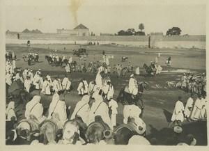 Morocco Marrakech Crowds watching Sultan Yusef ben Hassan? Old Photo Felix 1920s