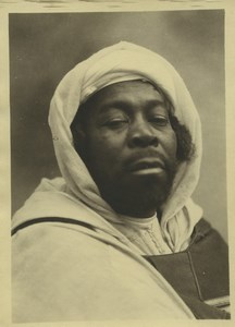 Morocco Marrakech Black Man Portrait Old Photo Felix 1930