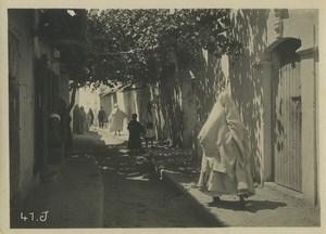 Morocco Marrakech daily life Shaded narrow street Old Photo Felix 1930