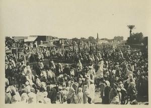 Morocco Marrakech Military Parade? Cavalry Old Photo Felix 1930