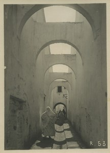 Morocco Marrakech daily life Narrow Street Arches Old Photo Felix 1930