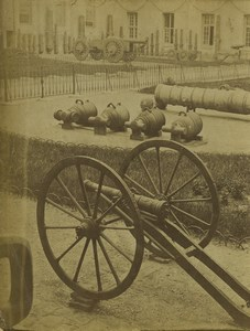 France guerre Franco-Prussienne Canons Ancienne Photo 1870