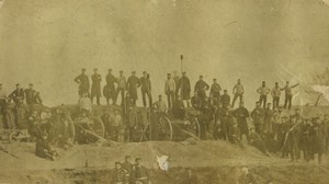 France Franco Prussian war battery of Argenteuil Old Photo 1870