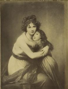 Musée du Louvre, peinture: Autoportrait de Mme Vigée Lebrun Ancienne Photo Neurdein 1890