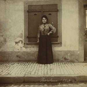 German occupied France Alsace Niederbronn Elegant Woman Old Photo 1903