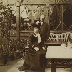 Allemagne/France Alsace Promenade à Niederbronn Terrasse de Café Anciennes Photos 1902