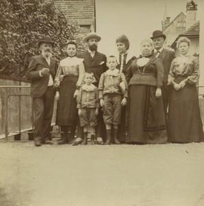 Allemagne/France Alsace Promenade à Niederbronn Groupe Anciennes Photos 1903