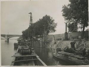 Paris Souterrain egouts catacombes Construction Ancienne Photo 1932 #35