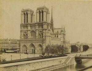 France Paris Cathedrale Notre Dame Ancienne Photo Neurdein 1900
