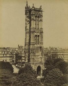France Paris Tour Saint Jacques Ancienne Photo Neurdein 1900